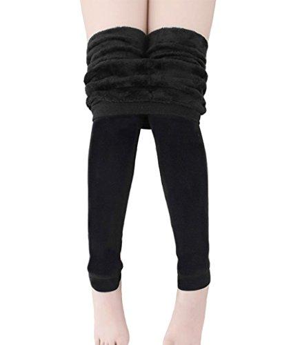 Romastory Girls Winter Warm Fleece Lined Tights Trousers Kids Elastic Thick Leggings Pants