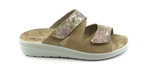 Grunland Donna Corda Beige Ce0612 Rimovibile Pantofole Daby rUrYF