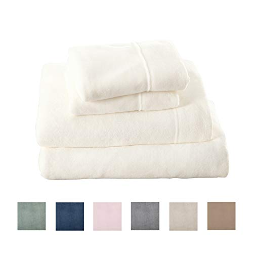 Great Bay Home Extra Soft Cozy Velvet Plush Sheet Set. Deluxe Bed Sheets with Deep Pockets. Velvet Luxe Collection (Twin, White)