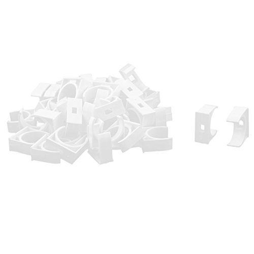 uxcell PVC Garden U Shaped Water Supply Pipe Hose Holder Clamps Clips 25mm Dia 50 Pcs White by uxcell