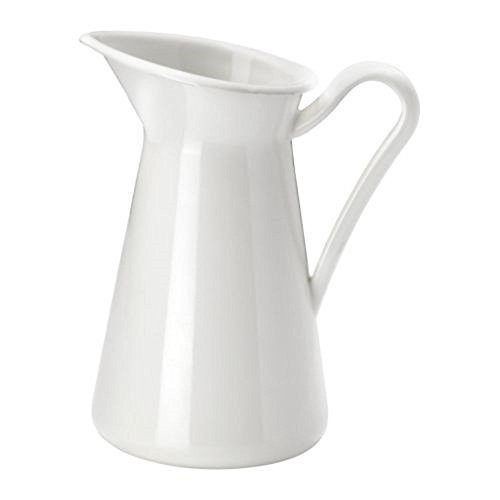 Farmhouse Pitcher Vase, White (8.75 Inch)