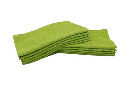 ZOLLNER® 10er Set Seiftücher / Seiflappen 30x30 cm apfelgrün, in weiteren Farben und Größen erhältlich, direkt vom Hotelwäschespezialisten, Serie