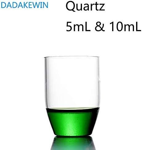 DADAKEWIN 5 Ml & 10 Ml Quarztiegel Ohne Deckel Hochtransparente Laborchemiegeräte Mit Hoher Temperaturbeständigkeit (Capacity : 5mL)