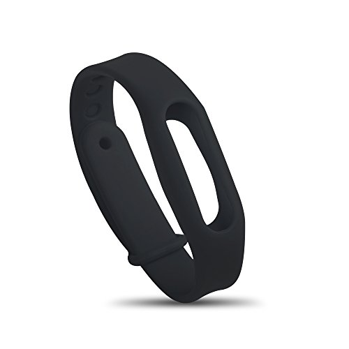 Silicone Watchband - Luxsure Wrist Strap Waterproof Replacement Wristbands Black