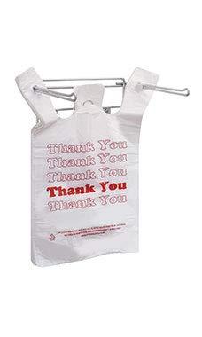Hanging Plastic Bag Holder - Holds 11 ½ x 6 x 21'' T-Shirt Handle Bags