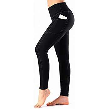 HOFI Women's High Waist Yoga Pants with Pockets Tummy Control Workout Running