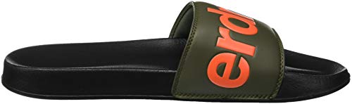 Hombre Superdry Gs8 Slide Olive Pool Black para Chanclas Negro ZpZzfqW