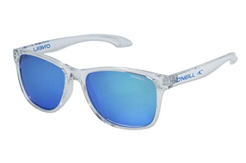 O'Neill Offshore Polarized Square Sunglasses, Gloss Clear Crystal, 55 ()