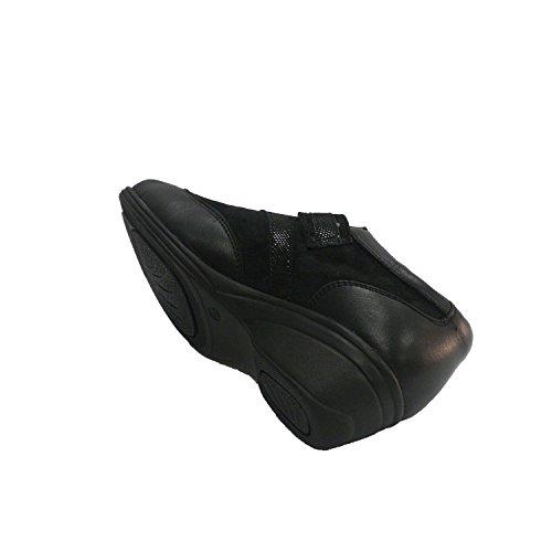 et Hours Velcro Femme en suède combiné Chaussure 48 avec Noir Cuir RnCqH