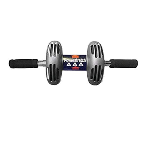 (Durable Ab Wheel Roller Core Training Roller Abdominal Workout Fitness Equipment Exercise and Fitness Wheel at Home with Knee Pad and Anti-Slip Handles Non-Slip (Color : Black, Size : 24616cm))