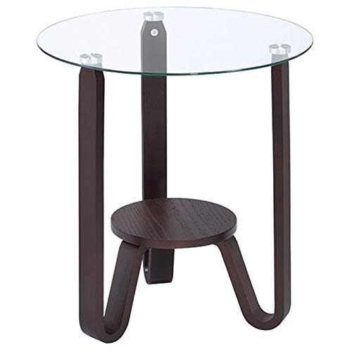 ACME Furniture 81107 Darby End Table Dark Walnut and Clear Glass