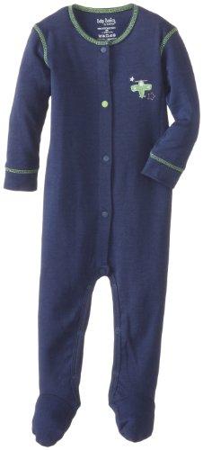 Kushies Baby-Boys Newborn Sleeper, Navy, 1 - Kushies Cotton Sleeper