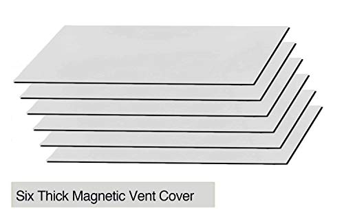 Strong Magnetic Floor Vent Covers Thick Magnet for Standard Air Registers - for RV, Home HVAC, AC and Furnace Vents, 5.5