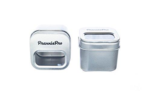 PraxxisPro Magnetic Paper Clip Holder, All Steel Design, Set of 2
