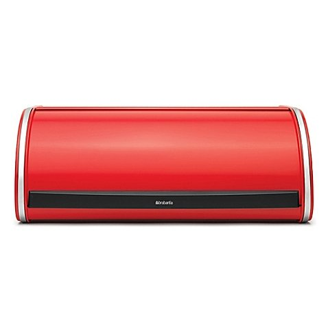 - Brabantia Roll Top Bread Box in Red