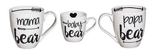 Cypress Home Baby Cub and Family Ceramic Cup O'Java Mug Gift Set