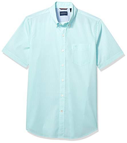 Dockers Men's Short Sleeve Button Down Comfort Flex Shirt, Maxey Aqua Pool, X-Large ()