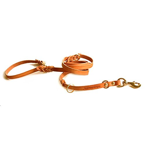 (Leather 6' Multi-Function Leather Leash by Bold Lead Designs (Large))