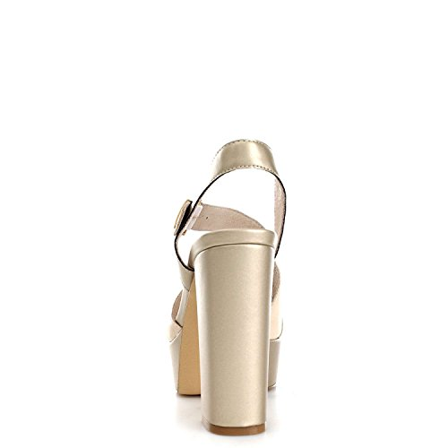 Luciano Barachini 8072A Sandals Women Beige/Platinum AXT3pBYVtf
