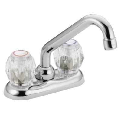 Moen 4975 Chateau Two-Handle Low Arc Laundry Faucet, Chrome