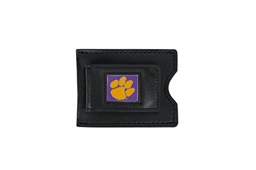 Tigers Clip (NCAA Clemson Tigers Leather Money Clip and Card)