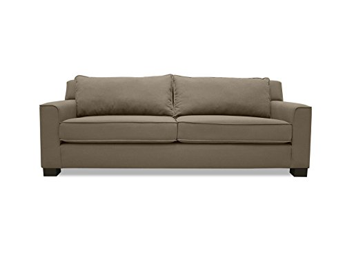 South Cone Home Elizabeth Linen Sofa, 90″, Brown