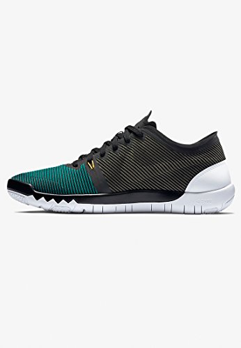Nike Mens Free Trainer 3.0 V4 Trainingsschoen Zwart / Stralend Emerald-mdm Olijf-wit