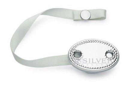 Amazon.com: Cunill Plata de ley perlas Clip para chupete: Baby