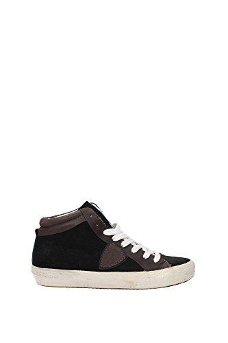 MDHDCS01 Philippe Model Sneakers Mujer Gamuza Negro Negro