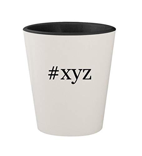#xyz - Ceramic Hashtag White Outer & Black Inner 1.5oz Shot Glass