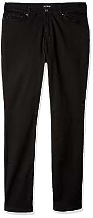 Lee Women's Size Fit Rebound Slim Straight Jean, Black, 6 Tall