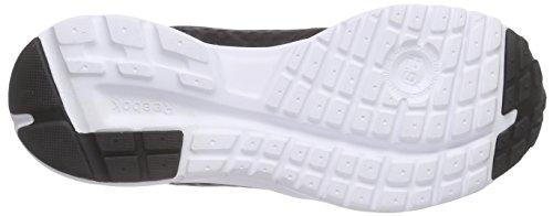Reebok Rush Zapatillas de deporte, Mujer Negro / Blanco / Rosa (Black / White / Icono Pink / Gravel)