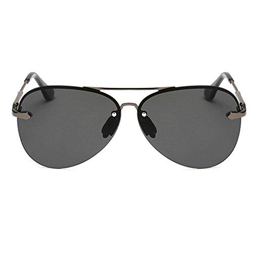 sin lente montura D B gafas Espejo metal hombre sol de Gafas retro de clásico sol polarizadas Color Pv7T4xwqn