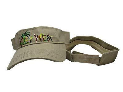 Ant Enterprises Khaki Palm Tree Island Tropical Florida Key West Conch Republic Visor hat Cap