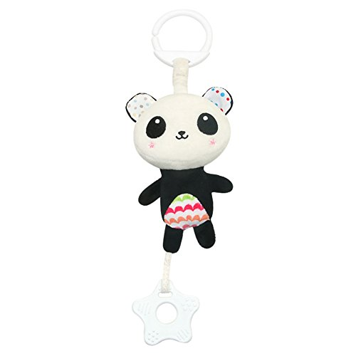 (Timall Baby Stroller Toys Baby Rattle Toys Soft Hanging Rattle Toy Infant Stroller Hanging Bell Baby Car Hang Plush Animal Wind Chime with Teethers)