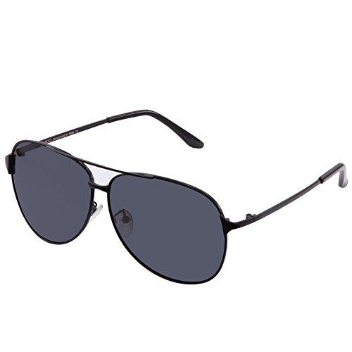 Duco Aviator Style Mirrored Polarized Sunglasses UV400 Men And Women - For Men Bridge Nose Wide Sunglasses