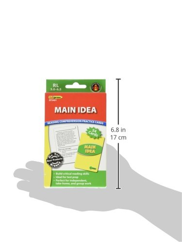 Edupress Reading Comprehension Practice Cards, Main Idea, Green Level (EP63401) Photo #2