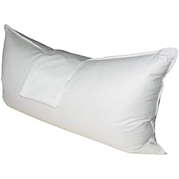 Natural Comfort Hypoallergenic White Goose Down and Feather Body Pillow PI2060-90, 6 Piece