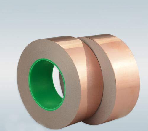 FidgetGear EMI銅箔シールドテープ二重導電性自己接着厚さ0.06 mm 1   B07TC599ZN