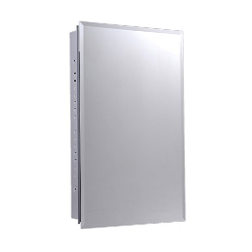 Ketcham Cabinets Euroline Series Surface Mounted Slim Style Medicine Cabinet Stainless Steel Framed 18