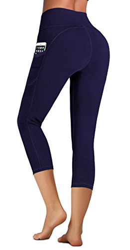 IUGA Capri Leggings with Pockets 4 Way Stretch Tummy Control Yoga Pants for Women