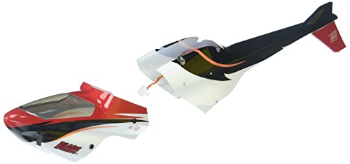 E-flite  Complete Red Canopy with LEDs (Installed): - Complete Canopy Red Blade