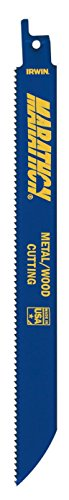 "Price comparison product image Irwin 372810P5 8"" 10 TPI Metal & Wood Cutting Reciprocating Saw Blades"