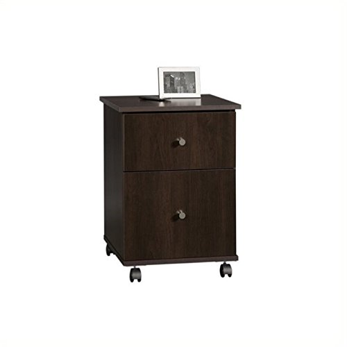 Pemberly Row Mobile File Cabinet in Cinnamon Cherry by Pemberly Row