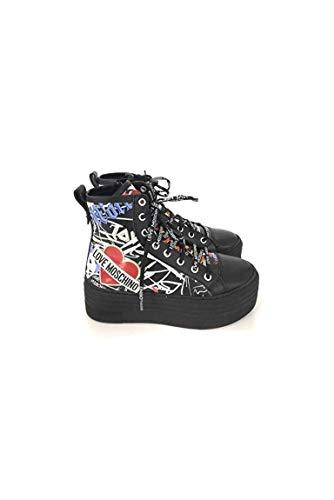 Pour Noir Love Moschino Femme Baskets 14EF6FqS