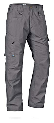 LA Police Gear Men's Water Resistant Operator Tactical Pant with Elastic Waistband Grey-44 X 34