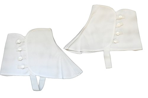 Canvas Spats Shoe Cover Victorian Style Costume Accessory, S/M