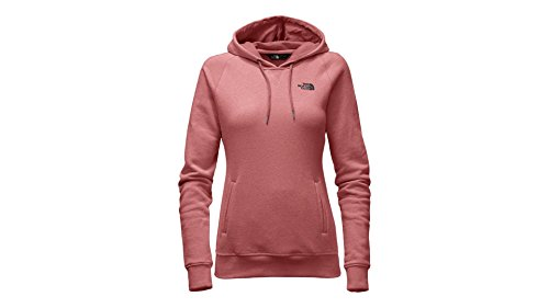 The North Face Women's French Terry Pullover Hoodie (Faded Rose Heather/Asphalt Grey, Medium)