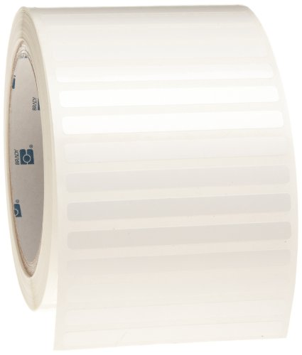 Brady THT-16-423-2.5 3'' Width x 0.25'' Height, B-423 Permanent Polyester, Gloss Finish White Thermal Transfer Printable Label (2500 per Roll) by Brady