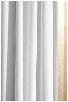 180/cm de ancho x 240/cm drop luxxur TM Blanco Satinado Shadow rayas tejido de poli/éster cortina de ducha extra larga Tama/ño